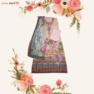 Rose Beige Digital floral print