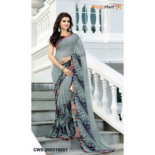 Aradhya Attractive Georgette Printed Sarees