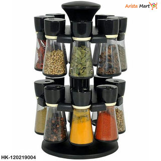 Spice Rack With 16 jars