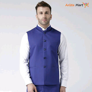Perfect-Fit Men's Polyester Viscose Waist Coats