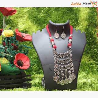 RED Colour Thread Jewellery Set