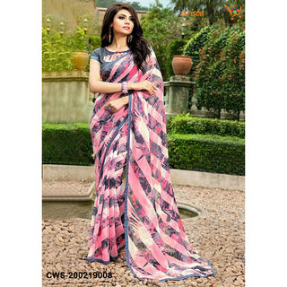 Aradhya colorful Georgette Printed Sarees