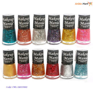 Colorful Glossy Nail Polish Pack Of 12